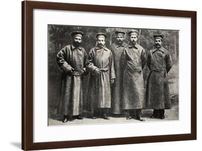 Bolshevik Deputies in the Fourth Duma in Exile--Framed Photographic Print