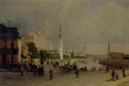 Bolshoy Kamenny Bridge in Moscow-Pyotr Petrovich Vereshchagin-Giclee Print
