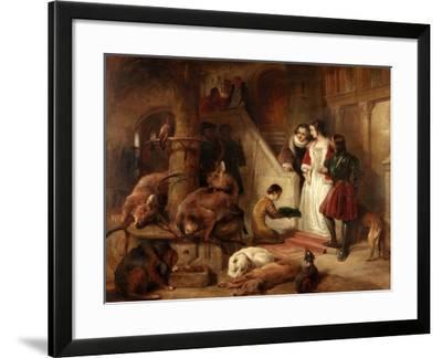 Bolton Court in Olden Times-Edwin Landseer-Framed Giclee Print