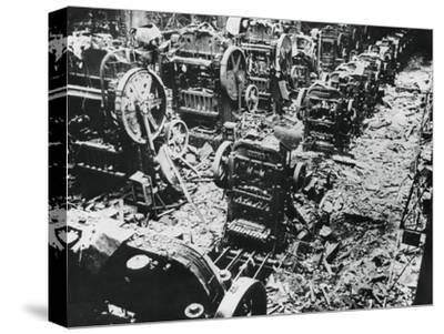 Bomb Damage at a Renault Factory, Sevres, Paris, 4 April 1943