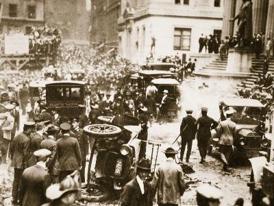 Bomb Damage Outside J.P. Morgan and Co, 16th September 1920--Photographic Print