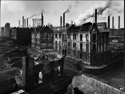 Bomb Damaged Buildings in the Shadow of the Thyssen Steel Mill-Ralph Crane-Photographic Print