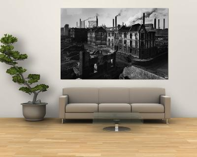 Bomb Damaged Buildings in the Shadow of the Thyssen Steel Mill-Ralph Crane-Wall Mural