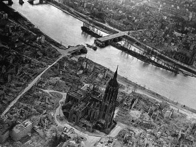 Bomb Damaged Frankfurt, 1945--Photographic Print