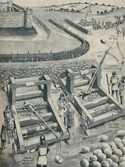 'Bombarding a Fort in Saxon Times', c1934-Unknown-Giclee Print