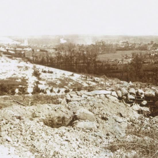 Bombardment, Ablain-Saint-Nazaire, Northern France, c1914-c1918-Unknown-Photographic Print