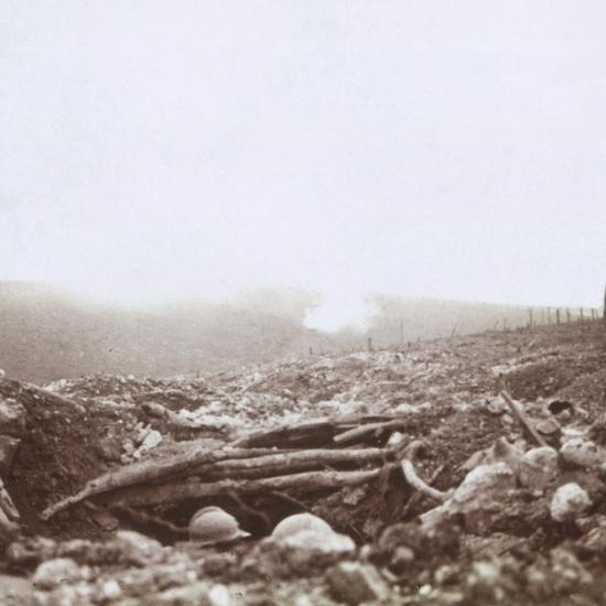 Bombardment, Le Mort Homme, (Dead Man's Hill), northern France, c1914-c1918-Unknown-Photographic Print