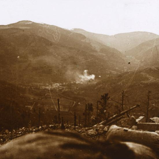 Bombardment, Metzeral, northern France, c1914-c1918-Unknown-Photographic Print
