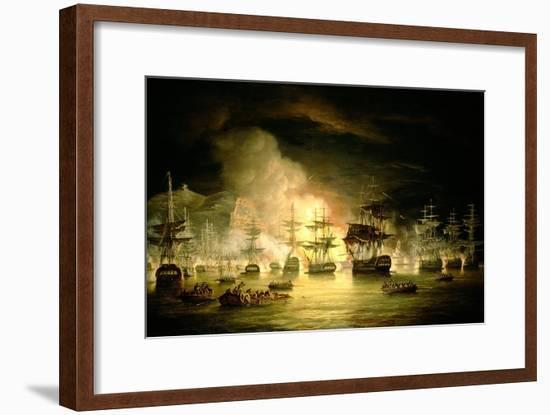 Bombardment of Algiers, August 1816, 1820-Thomas Luny-Framed Giclee Print