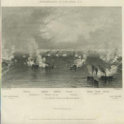 Bombardment of Port Royal, S.C., C. 1861-Charles Parsons-Giclee Print