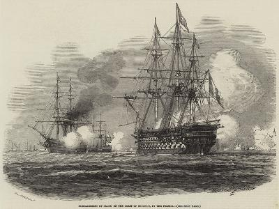 Bombardment of Salee on the Coast of Morocco, by the French-Antoine Leon Morel-Fatio-Giclee Print