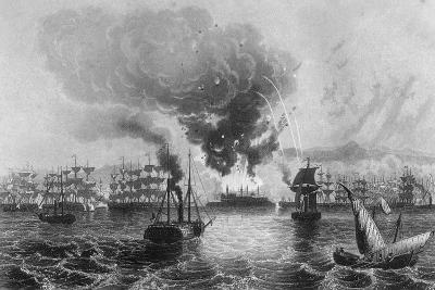 Bombardment of St Jean D'Acre by Admiral Sir Charles Napier, November 1840-H Winkles-Giclee Print