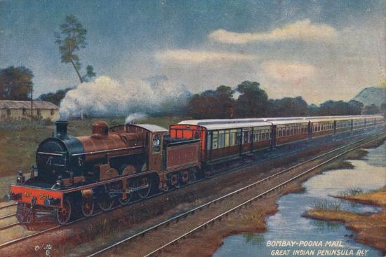 'Bombay-Poona Mail, Great Indian Peninsula Railway', c1900-Unknown-Giclee Print