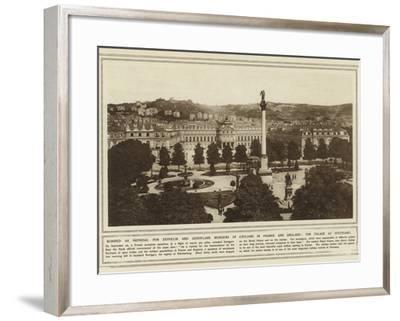Bombed as Reprisal for Zeppelin and Aeroplane Murders of Civilians in France and England--Framed Photographic Print
