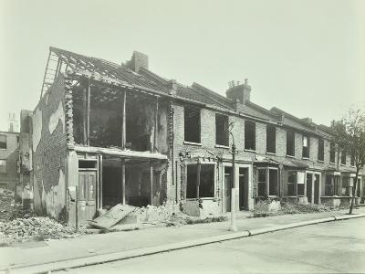 Bombed Houses, Trigo Road, Poplar, London, Wwii, 1943--Photographic Print