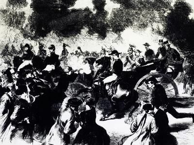 Bombing of Paris Where Tsar Alexander II Romanov Escaped Death, 1867--Giclee Print