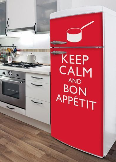 Bon Appetit Refrigerator Decal--Wall Decal