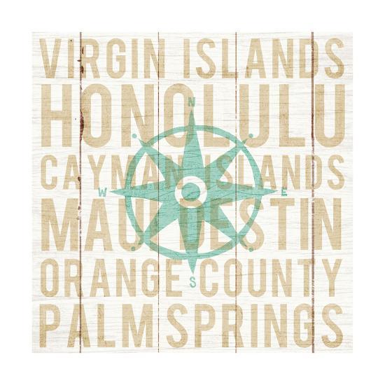 Bon Voyage Compass-Michael Mullan-Art Print