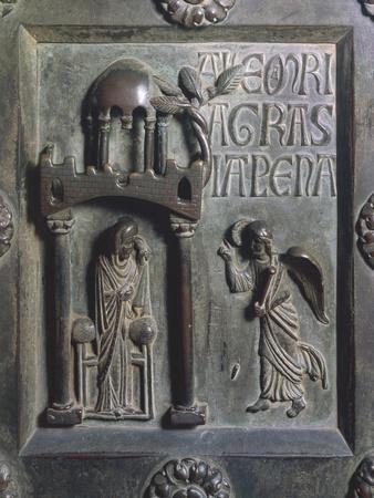 Annunciation, Bronze Panels from St Ranieri's Door, Ca 1180