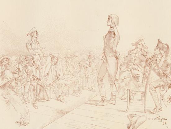 'Bonaparte Addressing a Jacobin Club in Corsica', c1789, (1896)-Unknown-Giclee Print