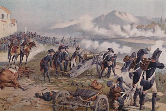 'Bonaparte Aiming The Cannon at Lodi', 1796, (1896)-Unknown-Giclee Print