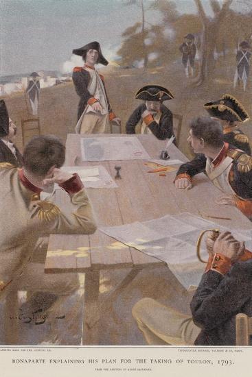 Bonaparte Explaining His Plan for the Taking of Toulon--Giclee Print