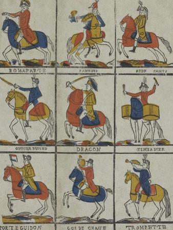 Bonaparte, panour, aide camp, officier hussard, dragon timbalier, porte guidon, cor de chasse,