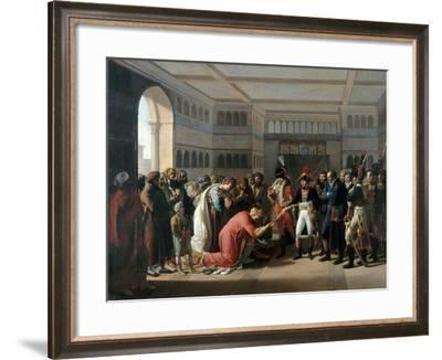 Bonaparte Presents the Sabre to Military Commander of Alexandria, July 1798-François Henri Mulard-Framed Giclee Print