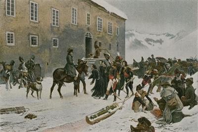 Bonaparte Received by the Monks of Mount St Bernard--Giclee Print
