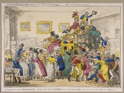 Bonaparte's Coach on Show at Bullock's Museum, Piccadilly, Westminster, London, 1835-George Cruikshank-Giclee Print