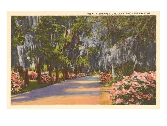 Bonaventure Cemetery, Savannah, Georgia--Art Print