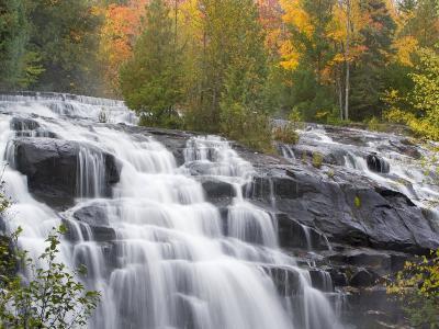 Bond Falls on the Middle Fork of the Ontonagon river near Paulding, Michigan, USA-Chuck Haney-Photographic Print