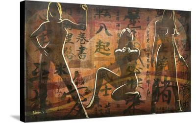 Bond Girls-Marco Almera-Stretched Canvas Print