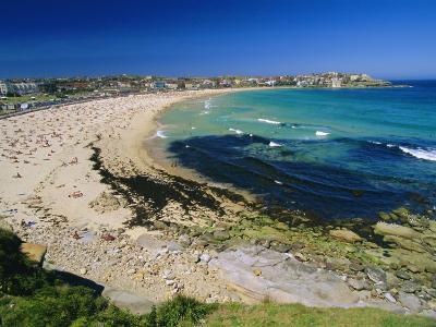 Bondi Beach, One of the City's Southern Ocean Suburbs, Sydney, New South Wales, Australia-Robert Francis-Photographic Print