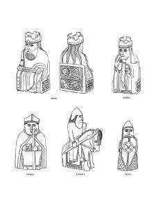 Bone Chessmen of Scandinavian Design, 12th or 13th Century