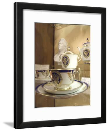 Bone China Tea Sets are Sold with Czar Motif-Richard Nowitz-Framed Photographic Print