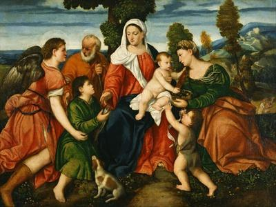 The Holy Family with Tobias and the Angel, Saint Dorothy