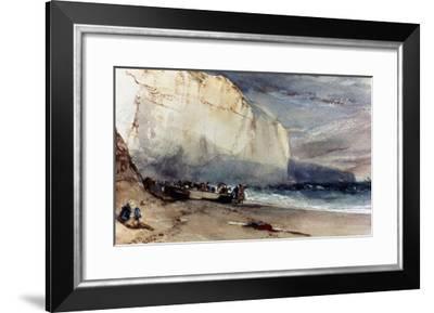 Bonington: Cliff, 1828-Richard Parkes Bonington-Framed Giclee Print