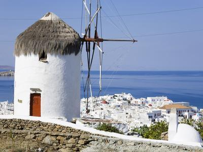 Bonis Windmill at the Folklore Museum in Mykonos Town, Island of Mykonos, Cyclades, Greek Islands, -Richard Cummins-Photographic Print