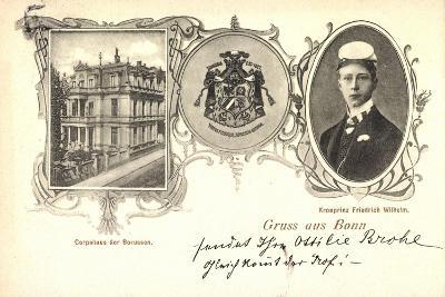 Bonn, Corpshaus Der Borussen, Kronprinz Fr. Wilhelm--Giclee Print