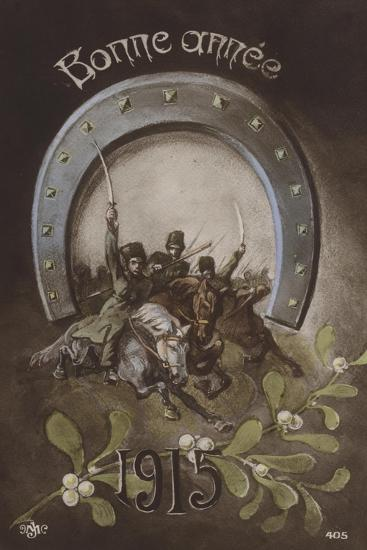 bonne annee french new years card 1915 giclee print by artcom