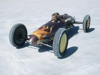 Bonneville Hot Rod Meet at the Bonneville Salt Flats in Utah-J^ R^ Eyerman-Photographic Print