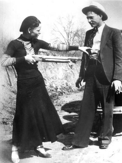 Bonnie And Clyde, 1933--Photographic Print