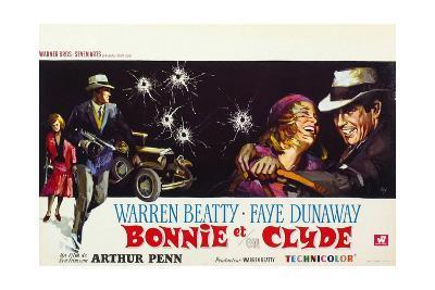 Bonnie and Clyde, (AKA Bonnie Et Clyde), 1967--Giclee Print