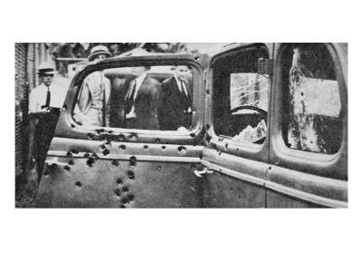 Bonnie and Clyde's Bullet-riddled Car, 1934-American Photographer-Giclee Print