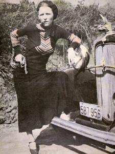 Bonnie Parker Posing Tough with a Gun and Cigar, c.1934