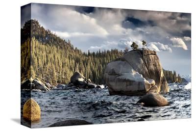 Bonsai Rock Lake Tahoe Nevada--Stretched Canvas Print
