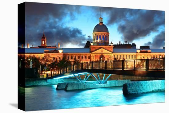 Bonsecour Market Old Montreal--Stretched Canvas Print