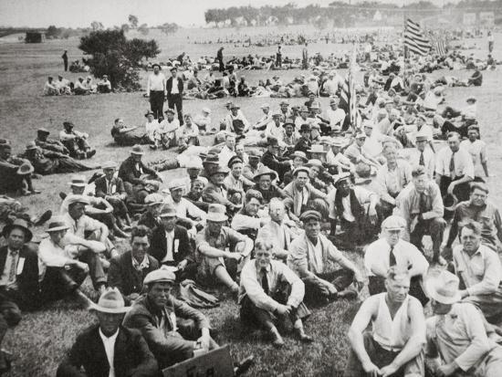 'Bonus Army' in Anacostia Park, Washington DC, USA, Great Depression, 1932-Unknown-Photographic Print