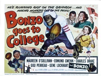 Bonzo Goes to College, Edmund Gwenn, Bonzo, Charles Drake, Maureen O'Sullivan, Gigi Perreau, 1952--Photo